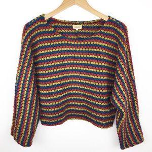 Anthro Piko 1988 chunky knit crop sweater L